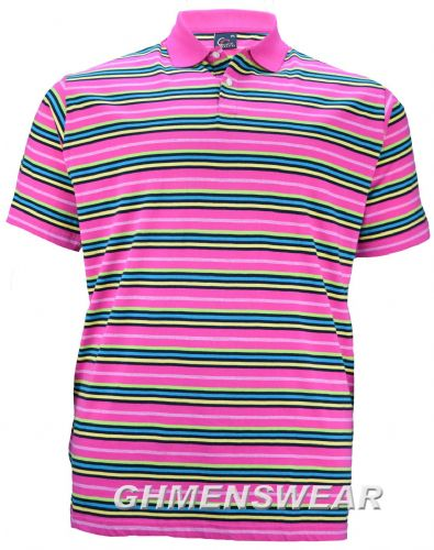 PERFECT COLLECTION  Pink Striped Polo Shirt